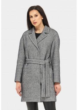 Пальто демисезонное черное DANNA 1177