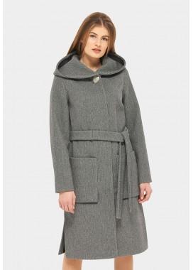 Пальто демисезонное серо-черное DANNA 1185