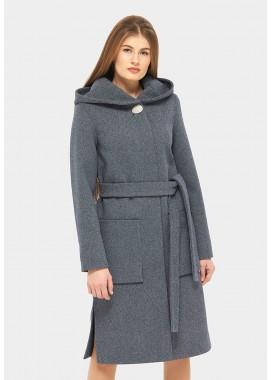 Пальто демисезонное синее DANNA 1185