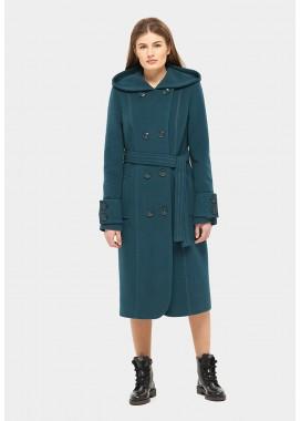 Пальто демисезонное зеленое DANNA 575